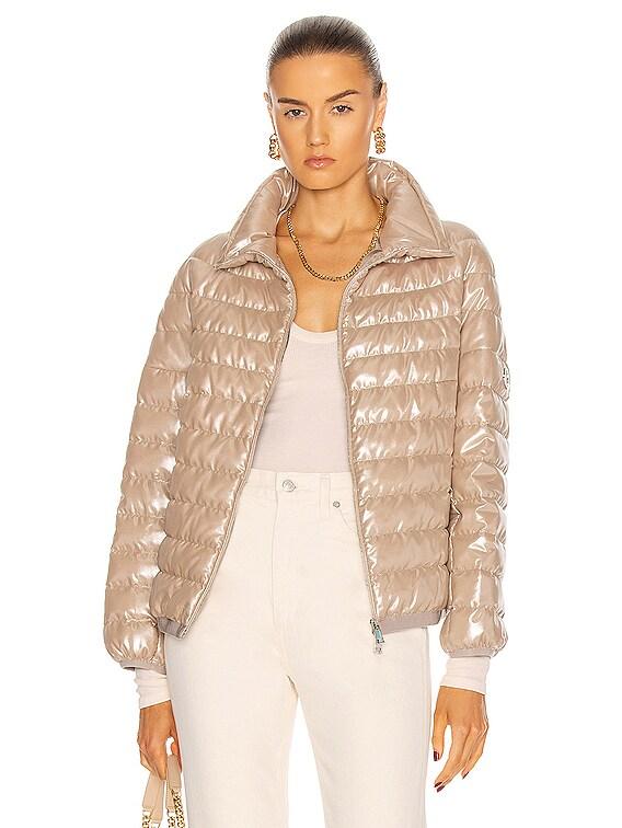 Sador Giubbotto Jacket in Beige Iridescent
