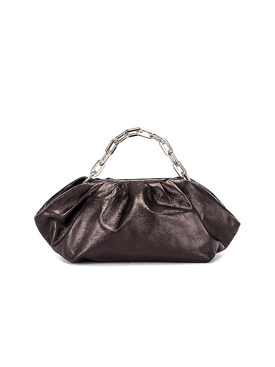 Pleated Clutch Bag in Black