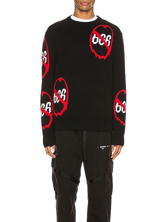 Anti 666 Knit Pullover in Black
