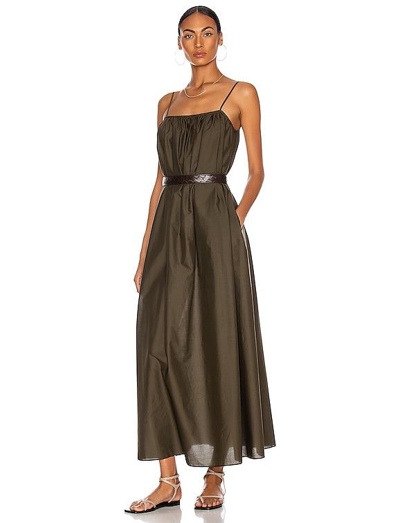 Voluminous Sun Dress in Thyme