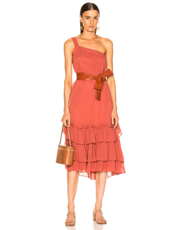 Calista One Shoulder Dress in Sienna