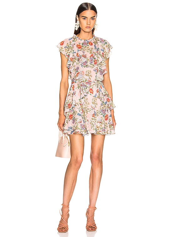 Sully Mini Dress in Dusty Rose English Bouquet