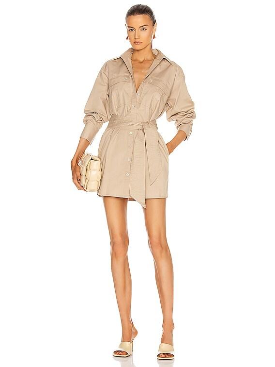 Skylar Canvas Tunic Dress in Sandshell