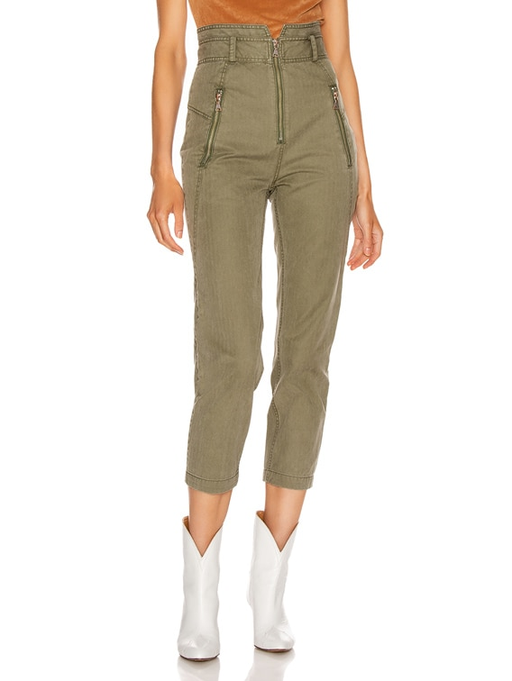 Josh Canvas Pant in Military Green
