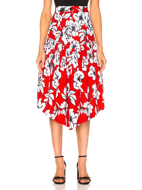 Oliver Skirt in Peony Cardinal Red