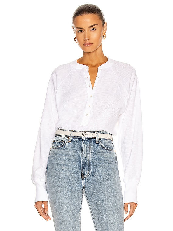 So Uptight Thermal Henley in White