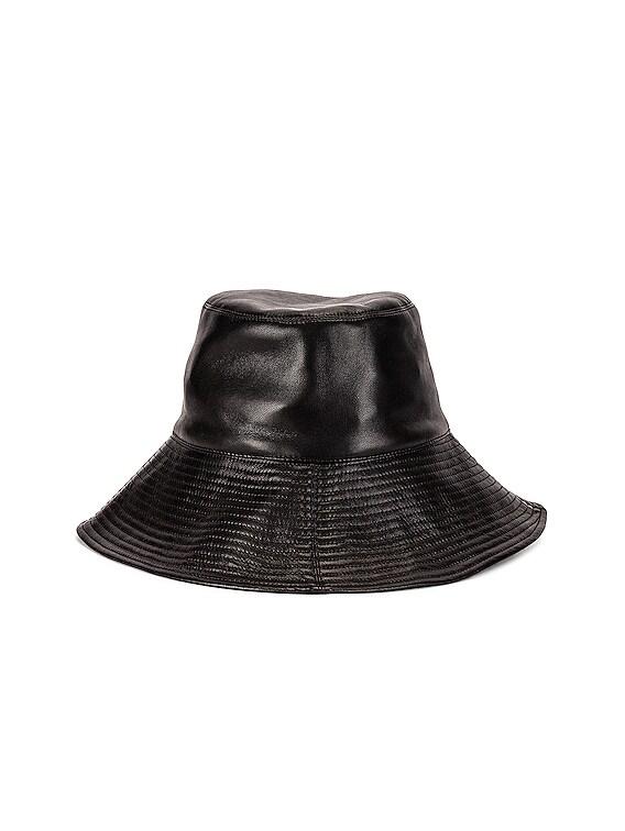 Serge Hat in Black