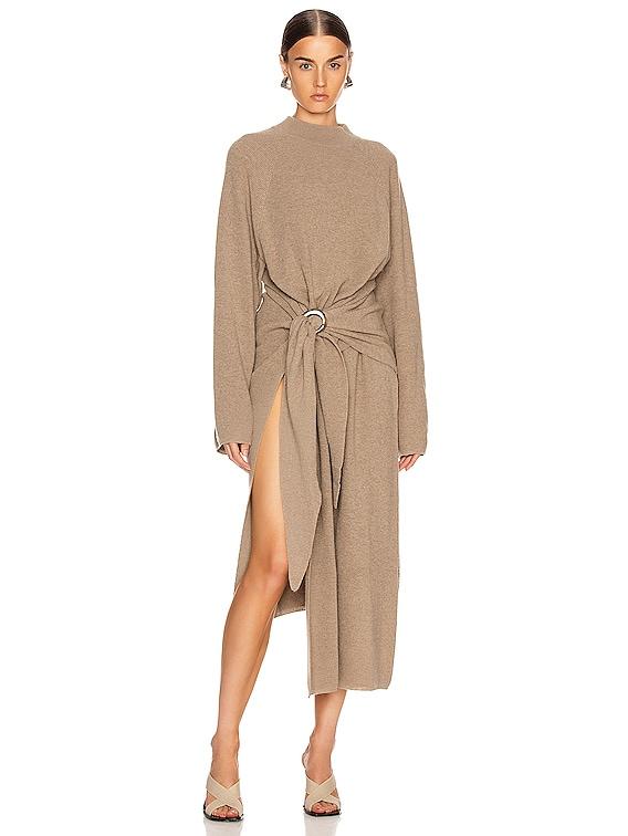 Mahali Sweater Dress in Taupe
