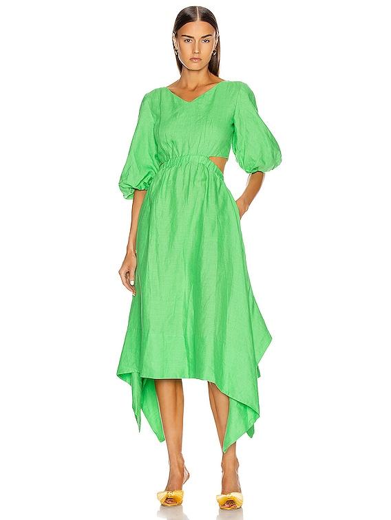 Karen Dress in Leaf
