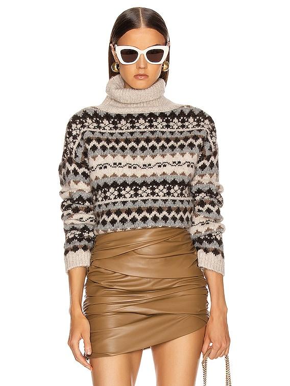 Catalina Sweater in Oatmeal Fairisle