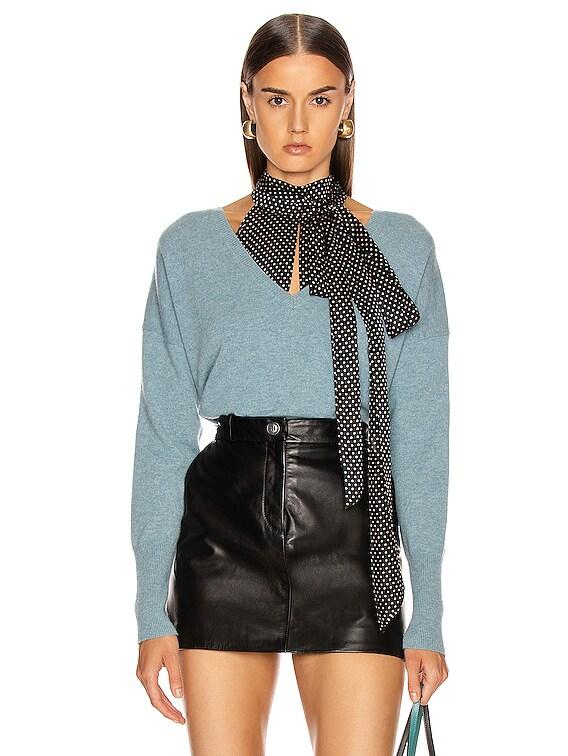 Kylan Cashmere Sweater in Vintage Blue
