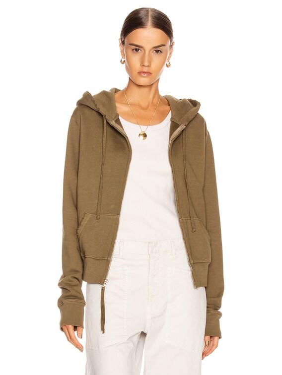 Callie Zip Up Hoodie in Army Green