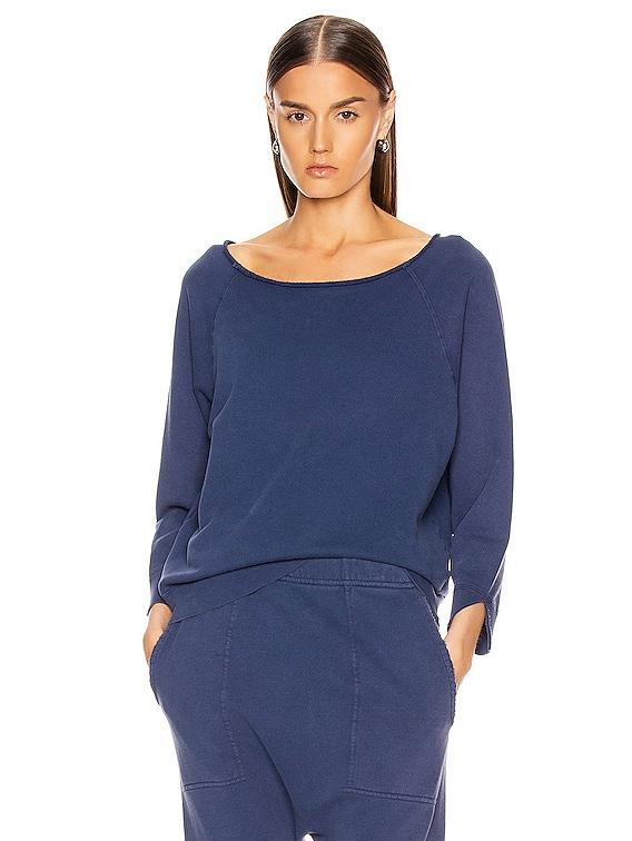 Luka Scoop Sweatshirt in French Blue