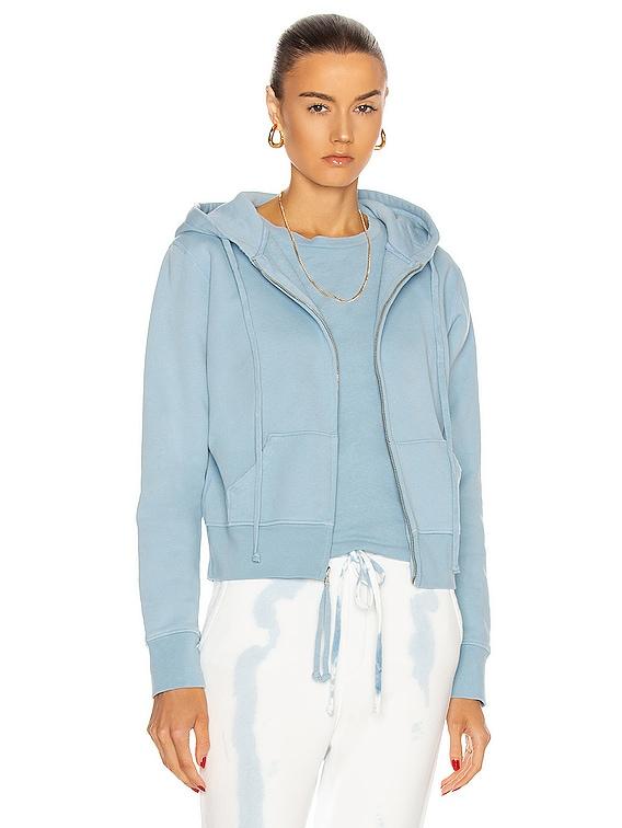 Callie Zip Up Hoodie in Light Blue