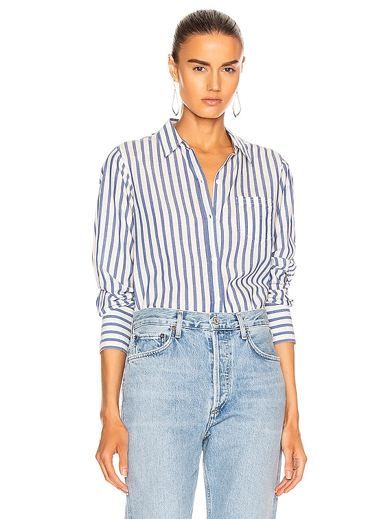 NL Shirt in Blue & White Stripe