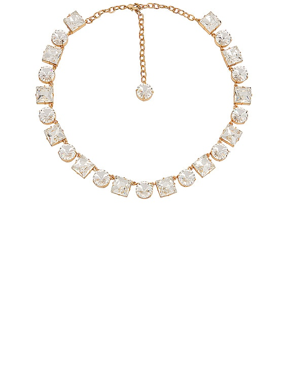 Anna Crystal Necklace in Diamond