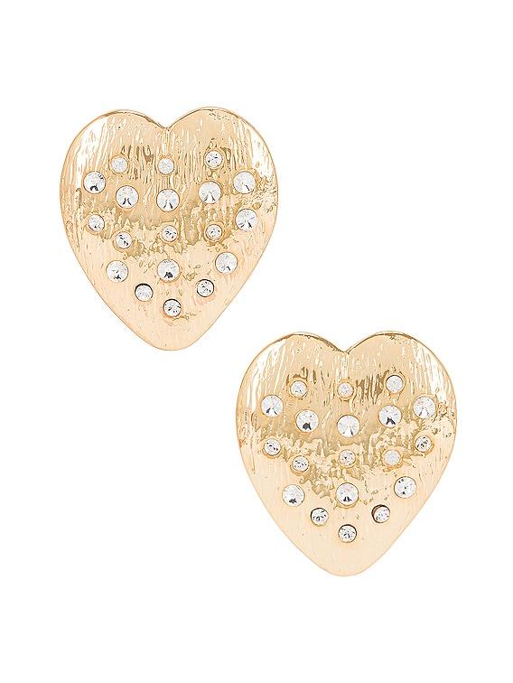 Cupid Heart Earrings in Gold