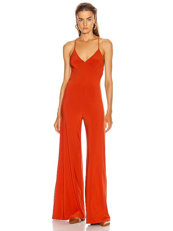 Low Back Slip Jumpsuit in Cinnamon