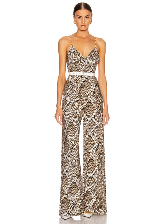 Slip Jumpsuit in Scale Python