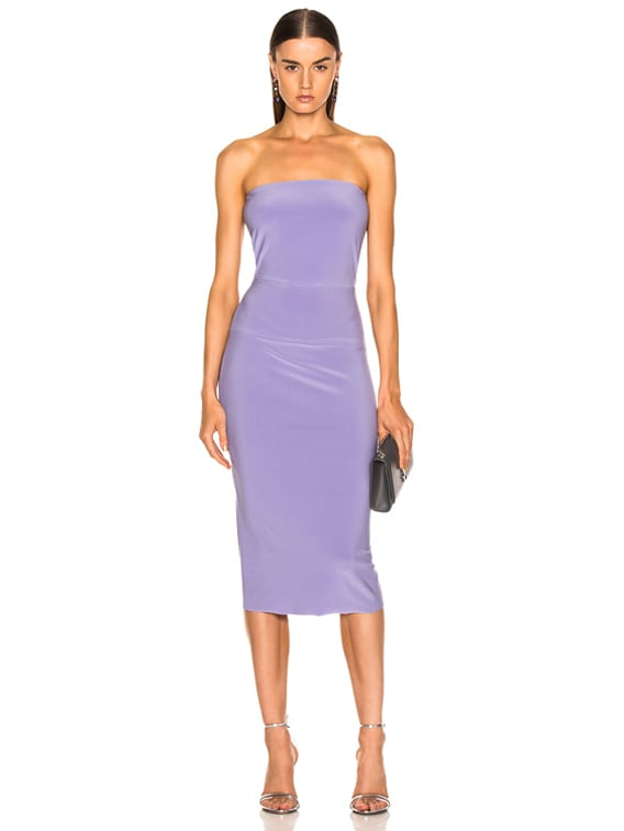 for FWRD Strapless Dress in Violet