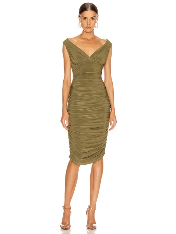 Tara Dress in Dark Khaki
