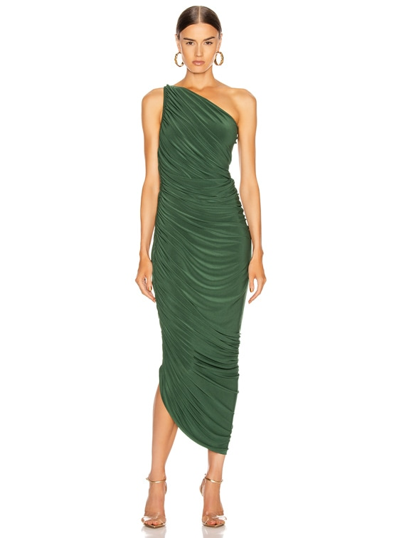 Diana Gown in Forest Green