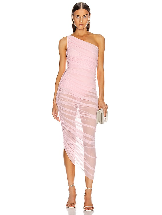 for FWRD Diana Gown in Bubble Gum Mesh