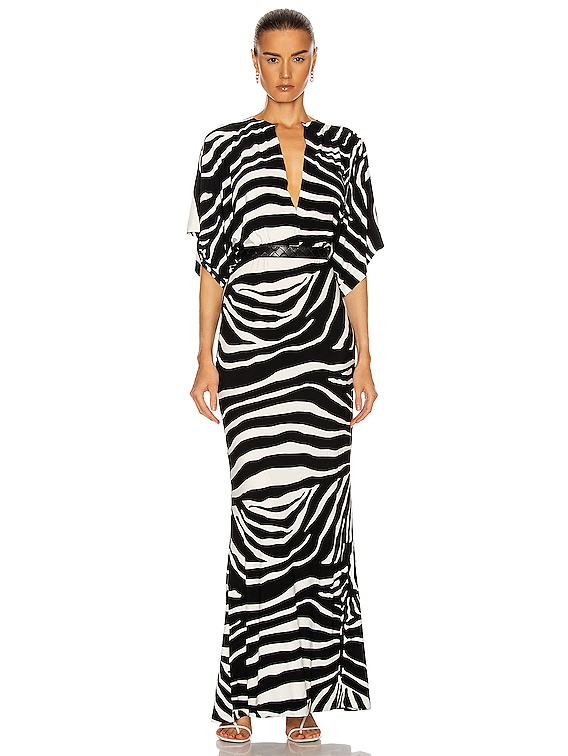 Obie Gown in Large Zebra