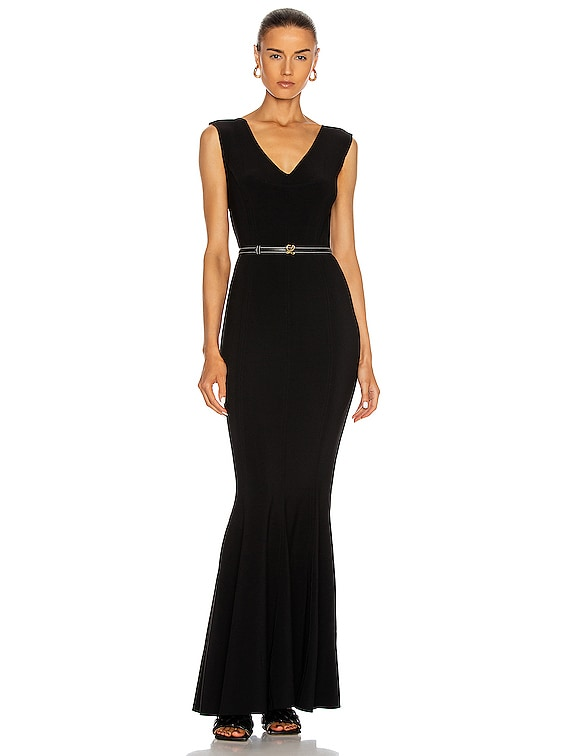 Grace Fishtail Gown in Black