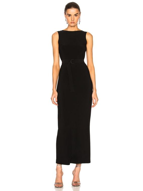 Low Back Dress in Black