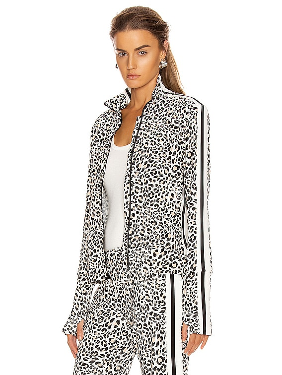 Side Stripe Turtle Jacket in Baby Leopard & Offset Stripe