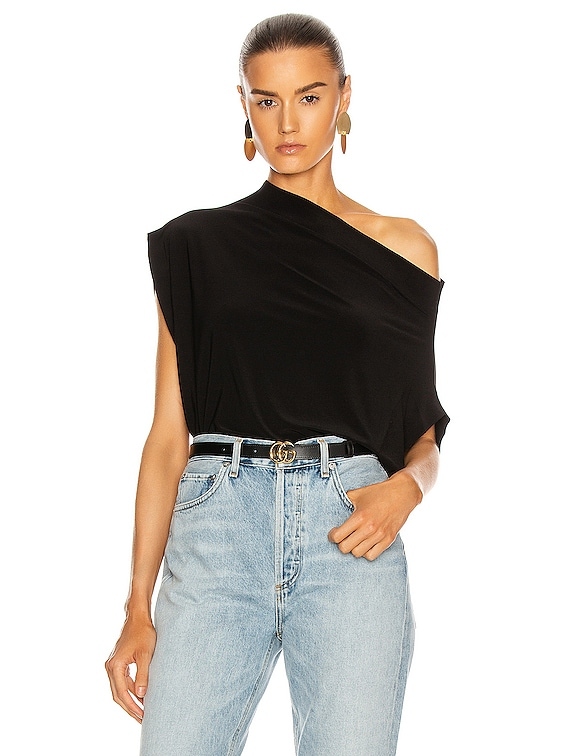 Sleeveless All In One Top in Black