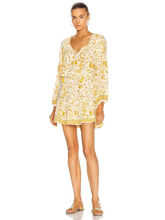 Maggie Dress in Wildflower Saffron