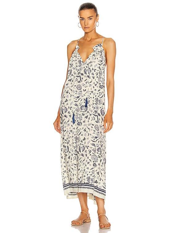 Marlien Maxi Dress in Wildflower Blue