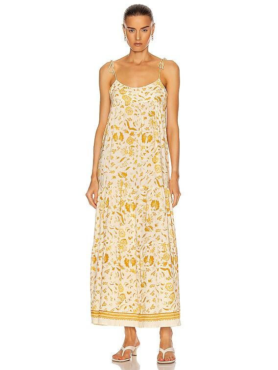 Melanie Dress in Wildflower Saffron