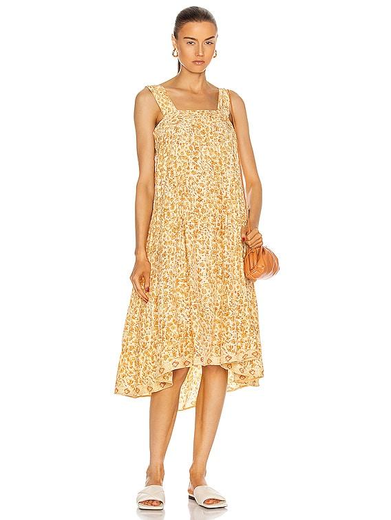 Jasmine Dress in Ivy Cumin Light
