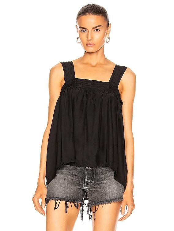 Jasmine Top in Black Silk