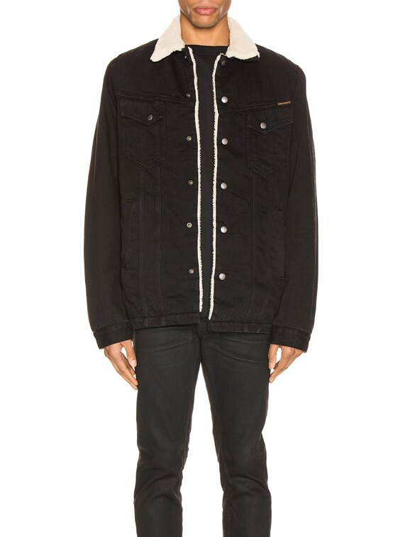 Lenny Jacket in Black Worn