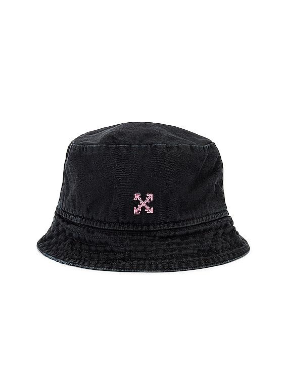Bucket Hat in Black & Fuchsia