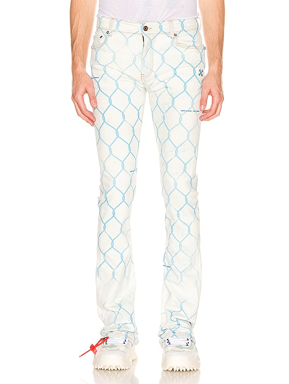Fence Skinny Stacked Jeans in Bleach Light