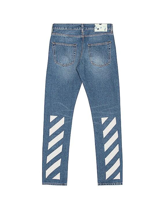 Slim Jeans in Medium Blue