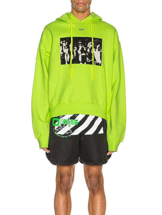 Spray Painting Over Hoodie in Fluo Yellow