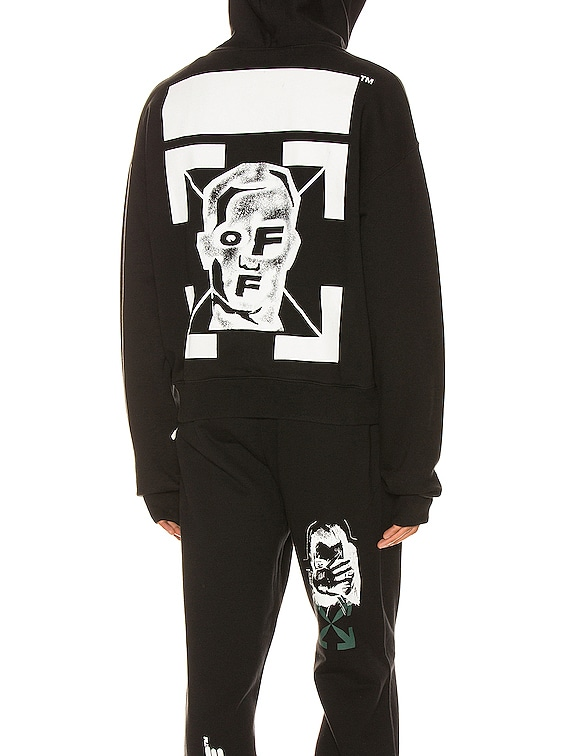 Masked Face Over Hoodie in Black & White