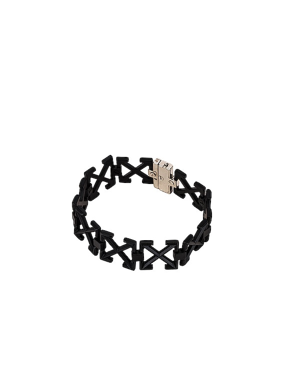 Multi Arrows Metal Bracelet in Black