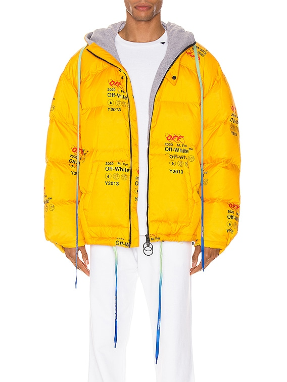 Industrial Zipped Puffer in Yellow