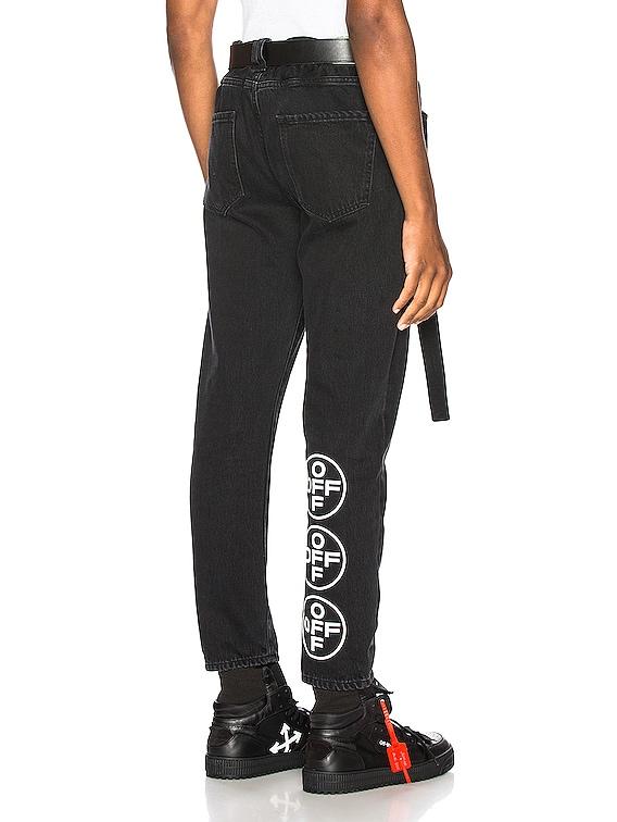 EXCLUSIVE Slim Low Crotch Pants in Black
