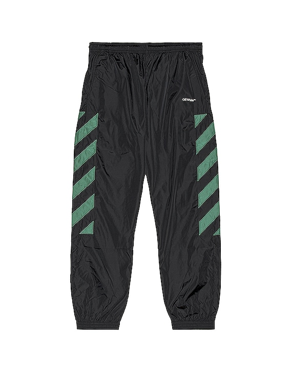 Diag Nylon Trackpant in Black & White