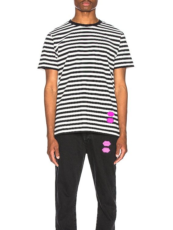 EXCLUSIVE Striped Tee in Black
