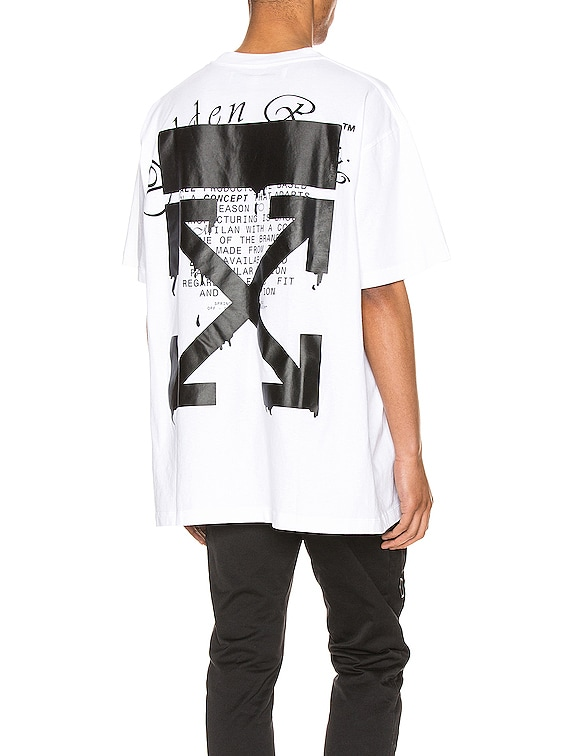 Dripping Arrows Tee in White & Black