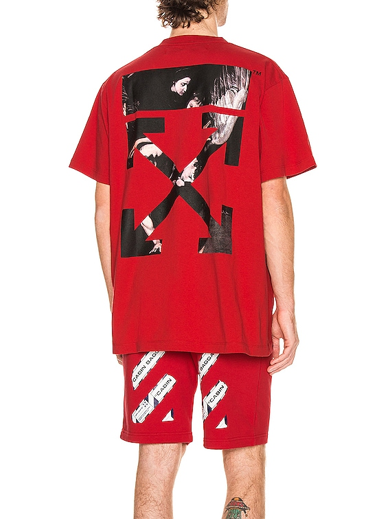 Caravaggio Arrow Over Tee in Red